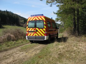 ...followed by the ambulance