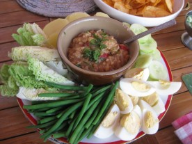 Gado gado: part of the Asian tapas-Smörgåsbord