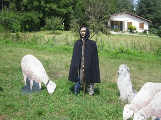 This shepherd will spend the whole summer at high mountain pasture with his sheep.