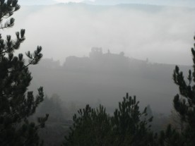As we get nearer, the mist clears.