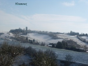 A snowy day near Hounoux: Thanks Anny, for this photo