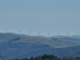 I was just putting my new camera through its paces here. These wind turbines are in the next département.