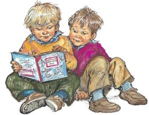 Alfie, his friend Bernard and a good book