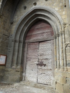 The fine great west door of the church.