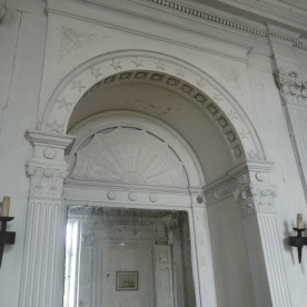 A once-handsome stucco interior.