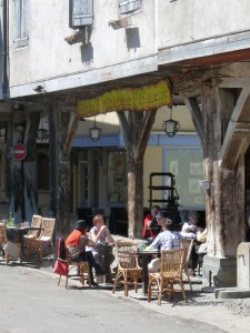 A table in the sun, a moment shared with friends... French café life in the traditional style.