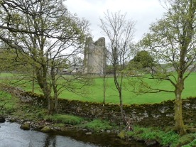 Shap Abbey glimpsed from the river