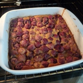 Cooked clafoutis.