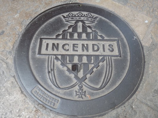 Man hole cover - for the Fire Service.