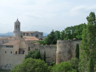 The cathedral seen from the city walls.