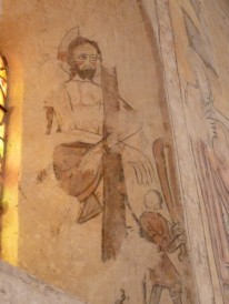 As in Laroque, there are remnants of ancient frescoes.