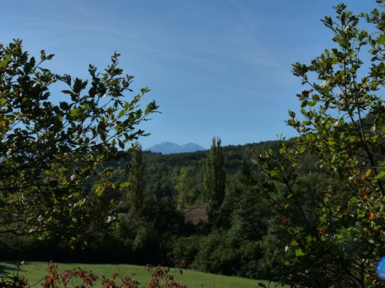 First view of the Pyrenees