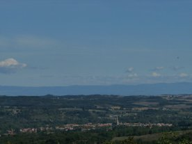Looking down over Mirepoix