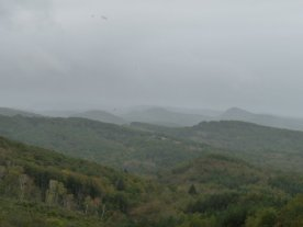Misty view over the Douctouyre valley