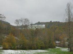 Snowy hillsides