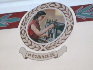 A bobbin worker immortalised in Laroque's Council Chamber