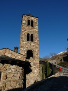 The church in our little hamlet, Aubinyà