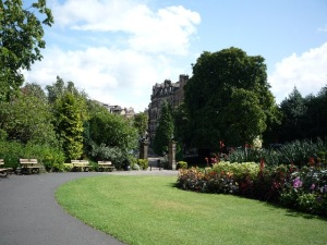 This is the Valley Gardens in Harrogate.  I must say it doesn't look too crowded