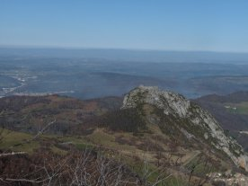 .. and there's Montségur again, with the lac de Montbel behind it and to the right.