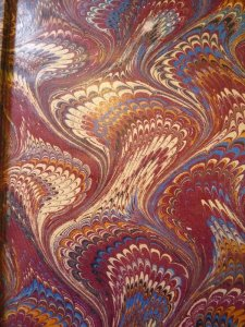 Marbled endpaper.