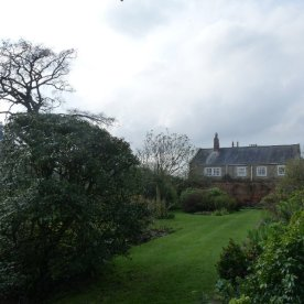 Those upper floor windows are all ours: this shot's taken from the walled garden
