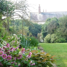 And this too is a shot showing the flat from the walled garden.