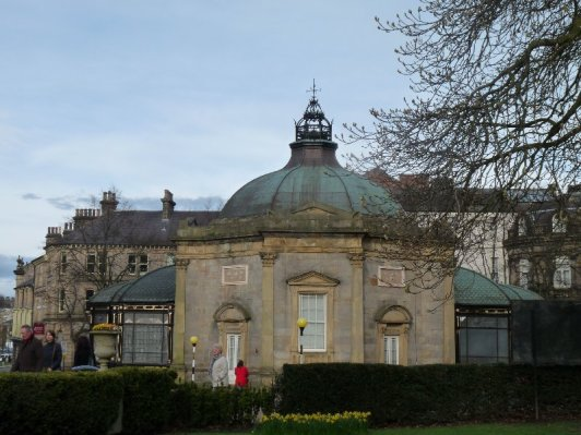 That's Harrogate's Pump Room, now the town's museum. Sulphur water is still freely available here. Try it at your peril.
