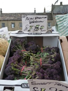 Purple sprouting broccoli at Masham Market