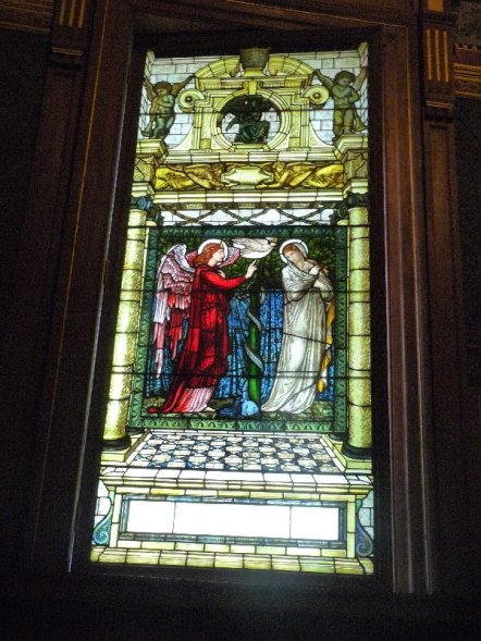 Burne-Jones was responsible for the stained glass in the chapel.