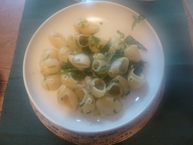 Wild garlic pasta, David Lebovitz style.