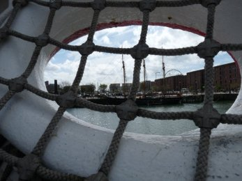 A view of the Albert Dock.