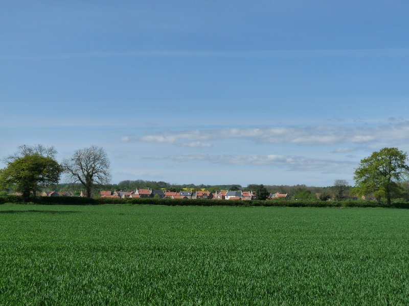 The village from afar.
