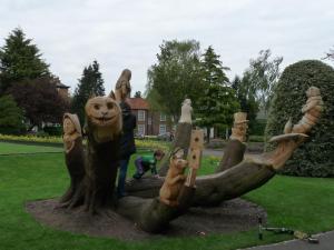Alice's Adventures in Ripon Spa Gardens.