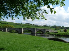 We crossed over the ancient packhorse bridge at Burnsall to begin our walk.