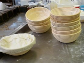 The sourdough moulds have finished their work for the day.