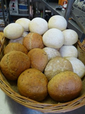 And here are rolls, ready to buy.