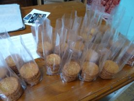 Anzac biscuits partly packaged.....