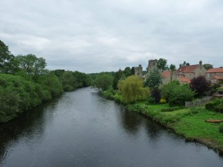 And here's a view of the village from the bridge.