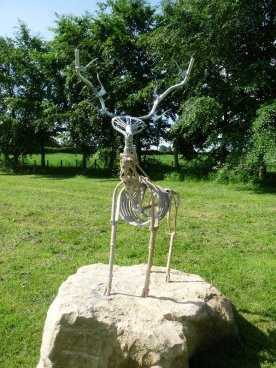 North Stainley's symbol, a stag, this time made of bicycle parts.