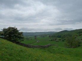 A moody sky as our walk begins.