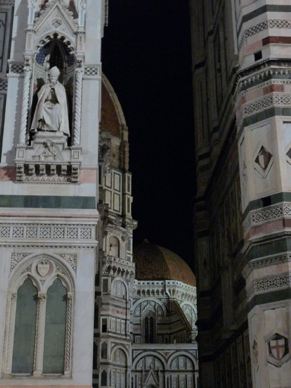 First view of Piazza del Duomo on the evening we arrived