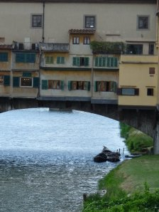 The Ponte Vecchio is crammed with tourists from morning till night.  But even here, you can find a bit of peace if you try.