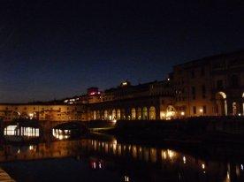 The Uffizi and Ponte Vecchio by night.