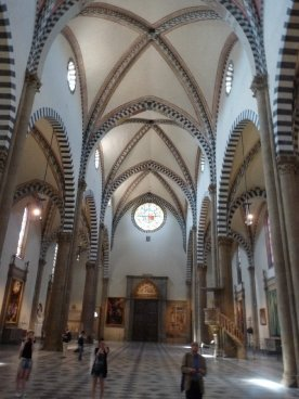 At peace in Santa Maria Novella early in the day.
