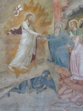 Christ in limbo, painted by Bonaiuto between 1365 and 1367