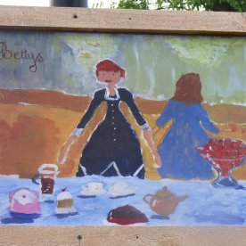 The Folies-Bergere meets Betty's. One of North Stainley's impressionist pictures.