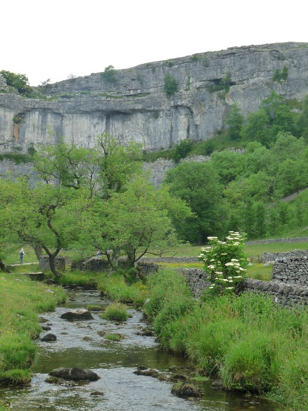Malham Cove seen from Malham Beck.