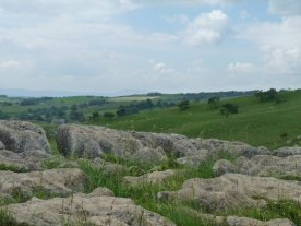 The limestone pavement at the top