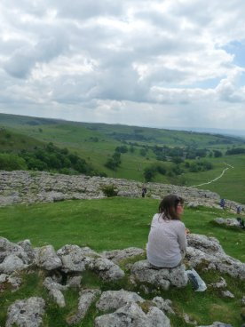 Gillian - our leader for the day - surveys the view.