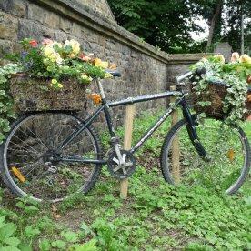 A cheerful bike at Pool-in-Wharfedale
